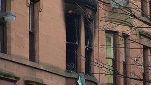 Govan flat fire