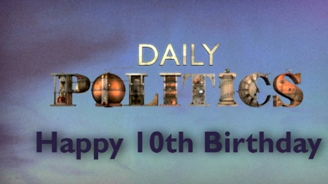 Daily Politics birthday graphic
