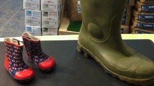 Wellington boots at Saltholme