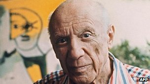 Pablo Picasso, pictured in 1971