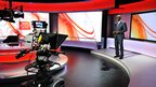 Komla Dumor in the BBC World News studio