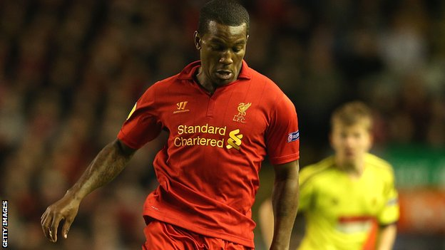 Andre Wisdom in action for Liverpool