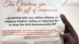Uganda advert over anti-gay law