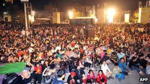 File photo: Fans at the Golden Horse awards in Taiwan
