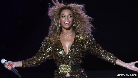 Beyonce at Glastonbury in 2011