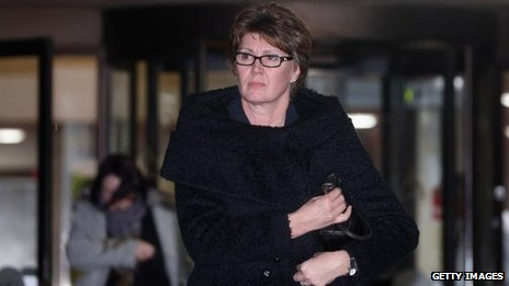 April Casburn leaving Southwark Crown Court on 7 January 2013