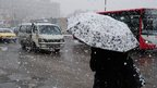 Snow in Damascus. 9 Jan 2013