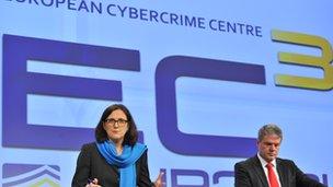 Cecilia Malmström and Troels Oerting
