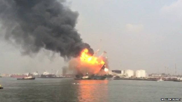Explosion in Lagos port area