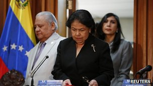 Luisa Estella Morales, President of the Venezuelan Supreme Court of Justice. 9 Jan 2013