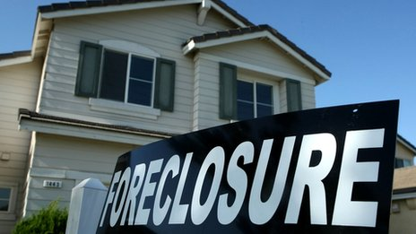 Foreclosure of house in US recession