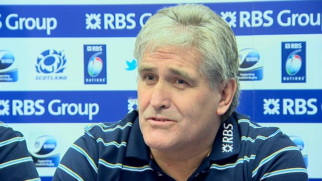 Scotland interim head coach Scott Johnson