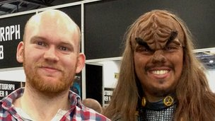 Andy Shuttleworth with a Klingon