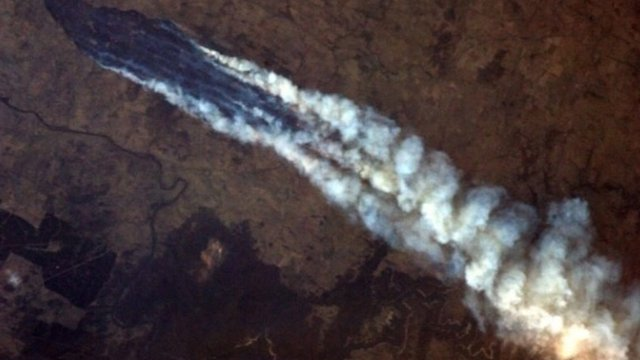 Smoke seen from space