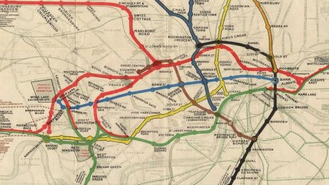 1908 Tube map