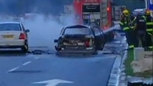 Car after explosion - 10 January