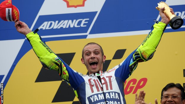 Valentino Rossi wins in Malaysia in 2010