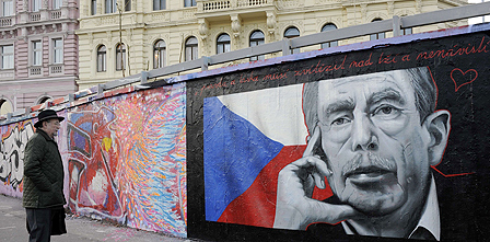 Mural of Vaclav Havel
