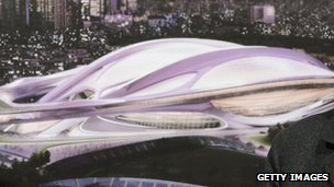 An artist's impression of the 2020 stadium