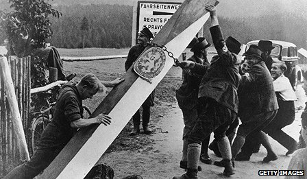 Border markers taken down on Czech-German border