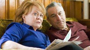 Jacki Weaver with Robert De Niro in Silver Linings Playbook