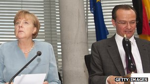 Gunther Krichbaum and Angela Merkel