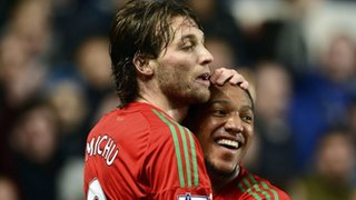 Michu and Jonathan de Guzman