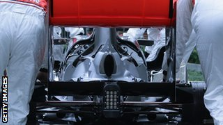 The rear end of a McLaren car