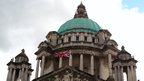 The union flag at Belfast City Hall (image taken prior to 4 December 2012)