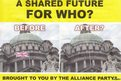 Flag leaflet distributed by DUP and UUP activists