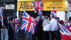 Union flag protest at Alliance party office in east Belfast