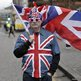 Man dressed in union flag