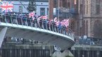 The flag protests spread to towns and cities outside Belfast, including Londonderry