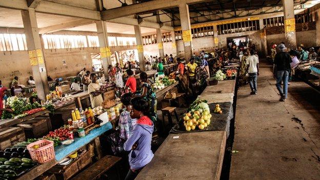 Bangui central market