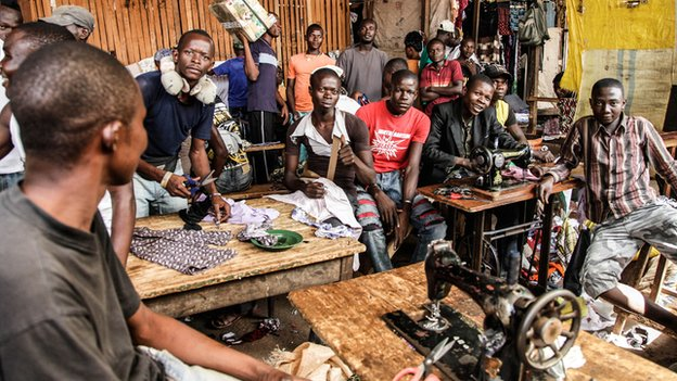 Tailors at PK5 market in Bangui