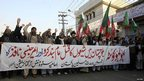 Protests in Lahore at Quetta bombings on 11/1/13