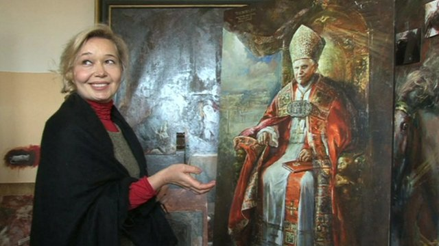 Natalia Tsarkova, official Vatican court painter