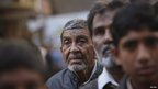 A Shia Muslim man listens to a speech during a protest rally in Karachi on 11/1/13