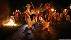 The Chanctonbury Ring Morris Men perform a traditional dance