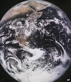 Earth seen from space (Image: AP)