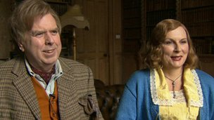 Timothy Spall and Jennifer Saunders are among the 60-strong cast