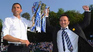 Gus Poyet and Tony Bloom