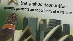 Leaflet from The Joshua Foundation