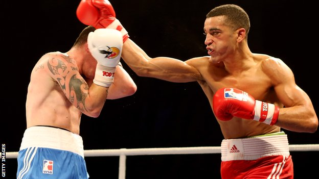 Sam Maxwell (right) in action for the British Lionhearts