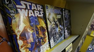 The new Star Wars comic is displayed in Philadelphia. Photo: 9 January 2013