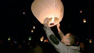 Vigil for Cameron Minshull