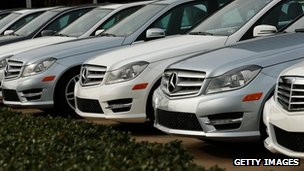Mercedes-Benz cars.