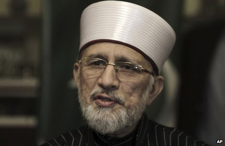 Dr Tahirul Qadri in Lahore, Pakistan, 9 January