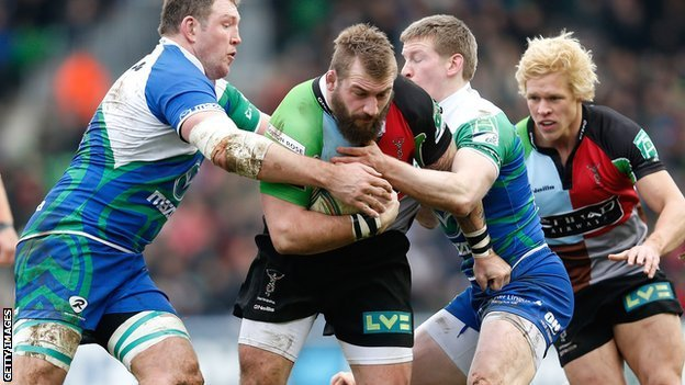 England prop Joe Marler on the charge for Harlequins