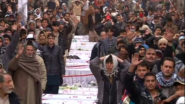 Shia protesters in Quetta, Pakistan